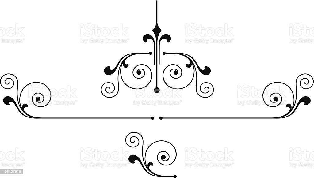 Vector ruleline 2-12504 royalty-free stock vector art
