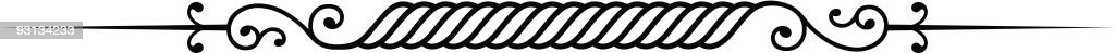 Vector Ruleline - Divider royalty-free stock vector art