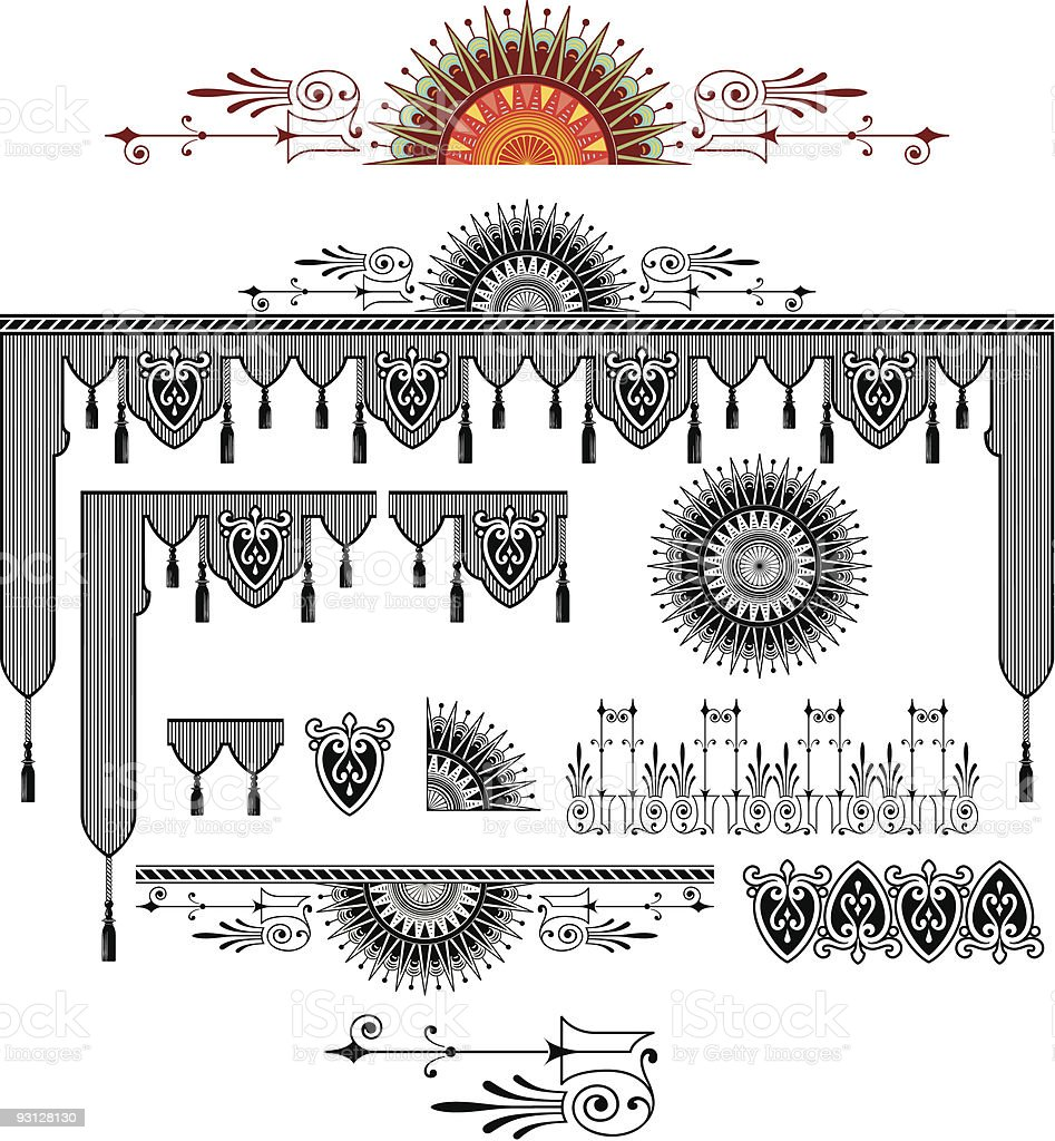 Vector Scroll & Design Elements Group royalty-free stock vector art