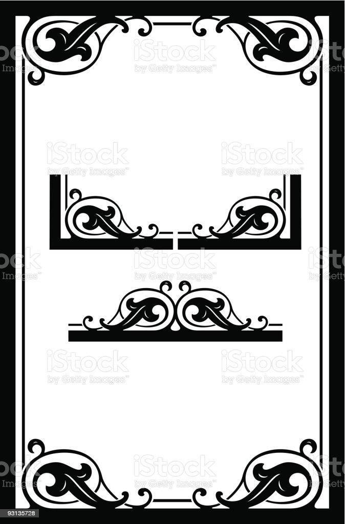 Vector Scroll Frame Design royalty-free stock vector art