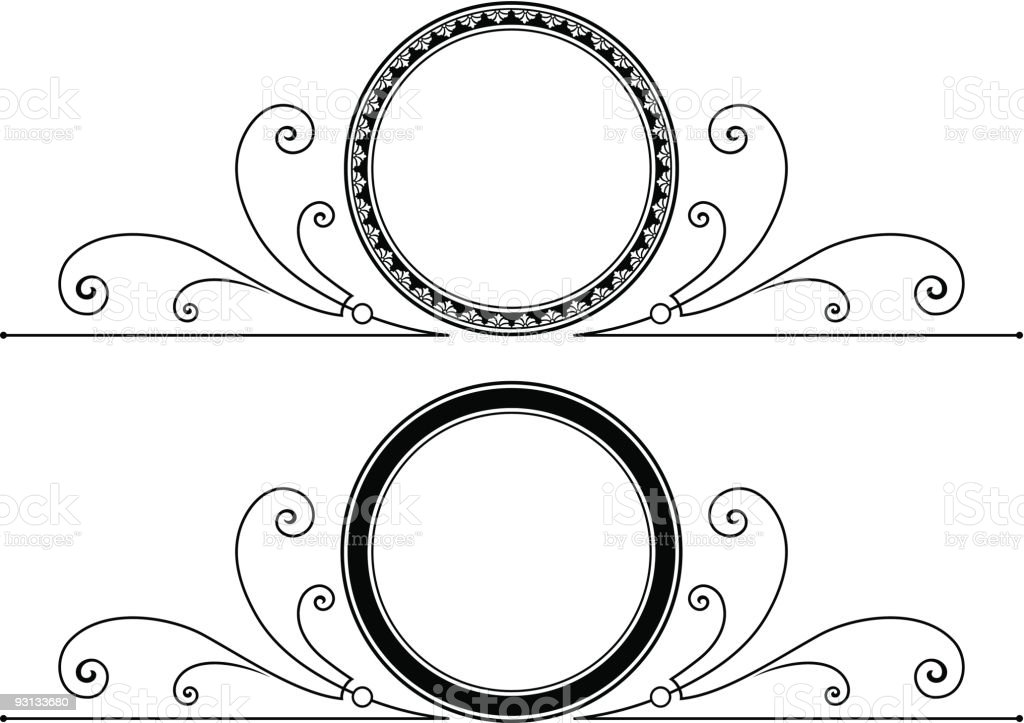 Vector Scroll / Label royalty-free stock vector art
