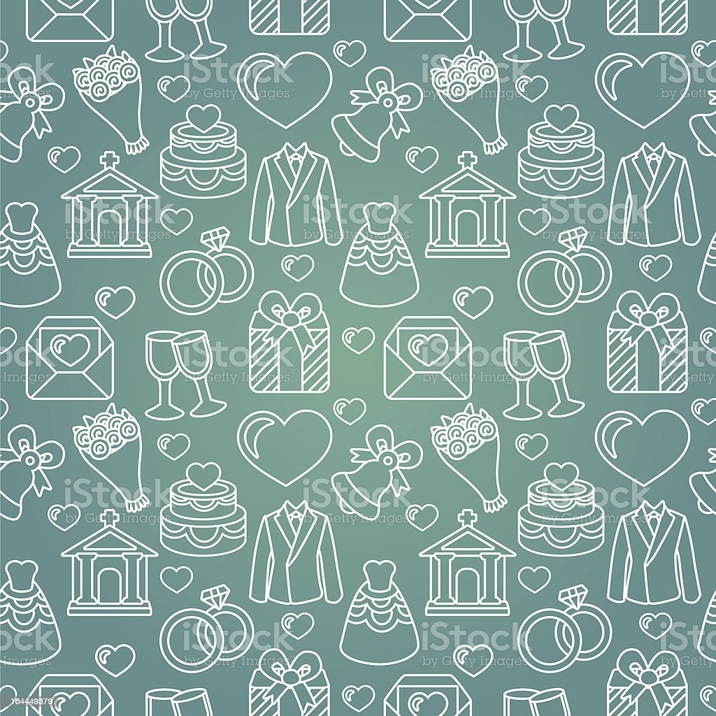 Vector seamless pattern with wedding icons royalty-free vector seamless pattern with wedding icons stock vector art & more images of adult