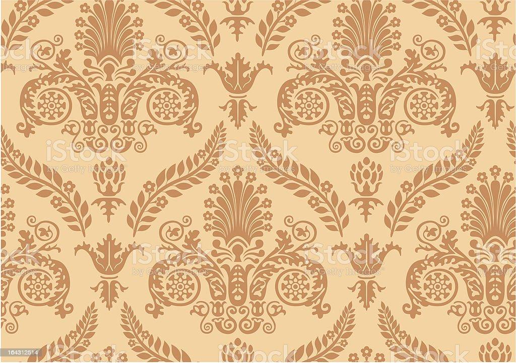 Vector. Seamless Renaissance Wallpaper royalty-free stock vector art