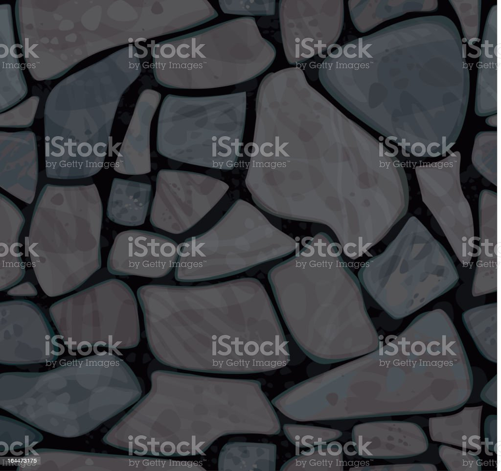 Vector seamless texture of stonewall in black colors royalty-free stock vector art