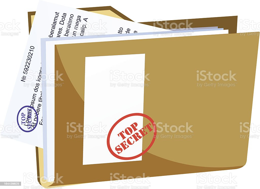 vector secret folder royalty-free stock vector art