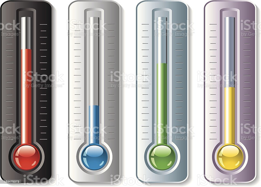 vector set of thermometers vector art illustration