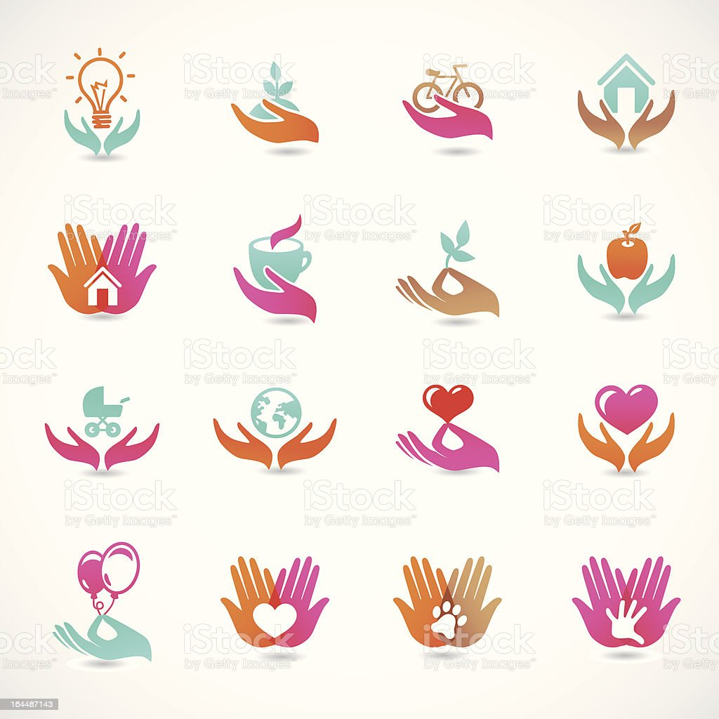 Vector set with signs of love and care royalty-free vector set with signs of love and care stock vector art & more images of care