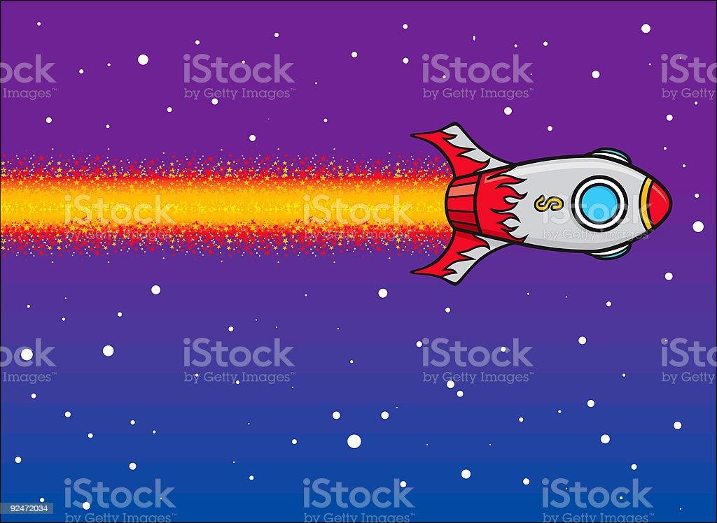 Vector Spaceship royalty-free stock vector art