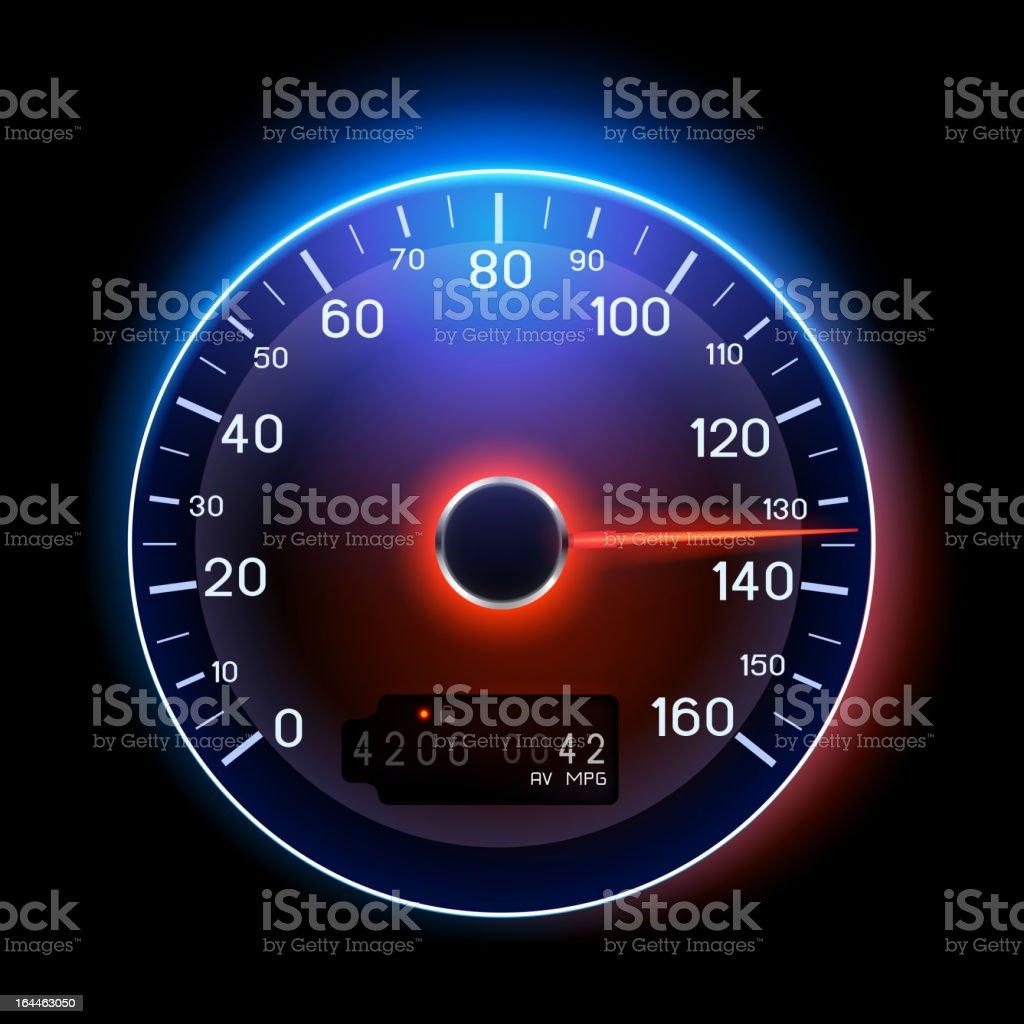 Vector Speedometer vector art illustration