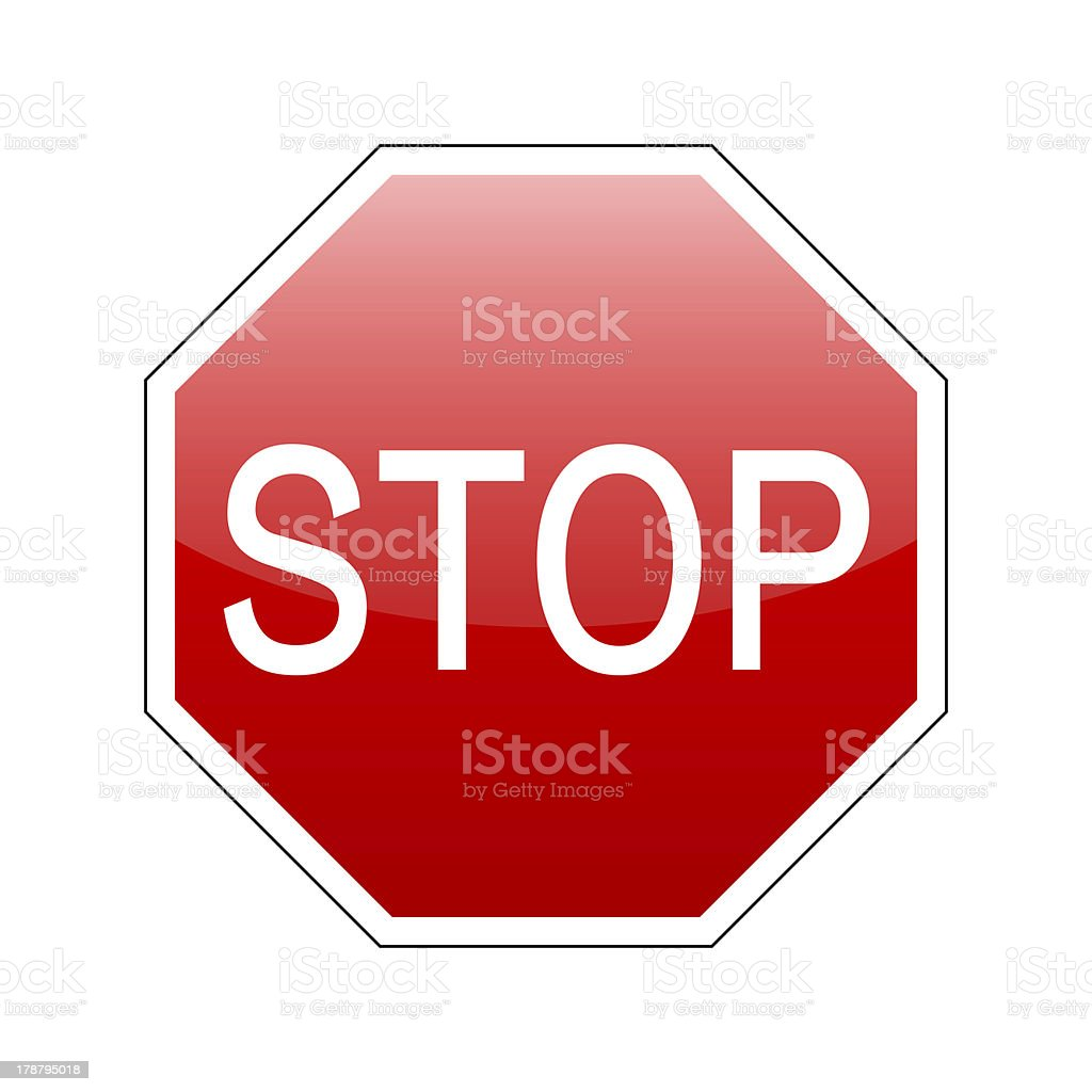 vector stop sign red royalty-free stock vector art