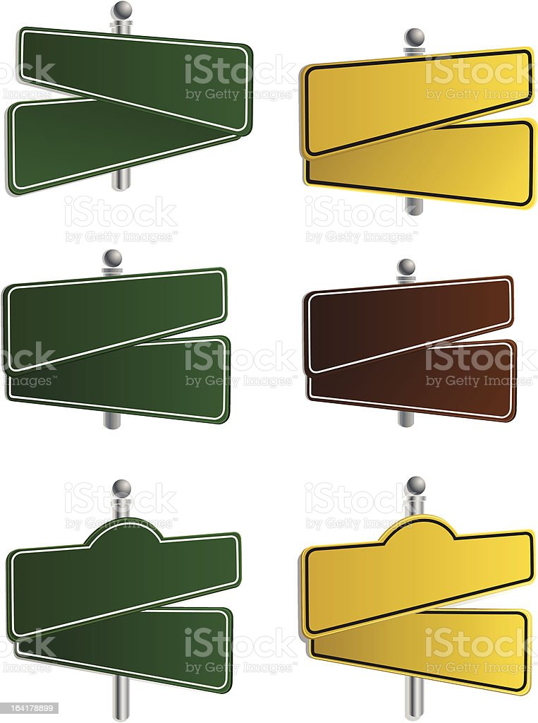 Vector- Street Signs royalty-free stock vector art
