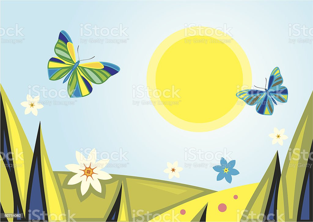 Vector Summer Background royalty-free vector summer background stock vector art & more images of art