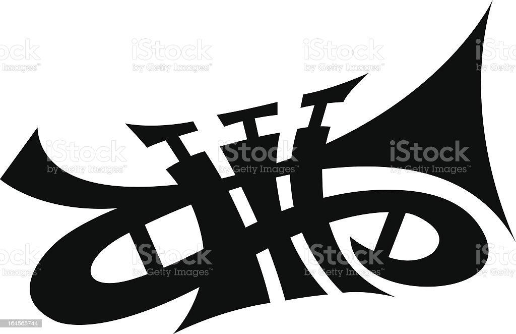Vector Trumpet vector art illustration