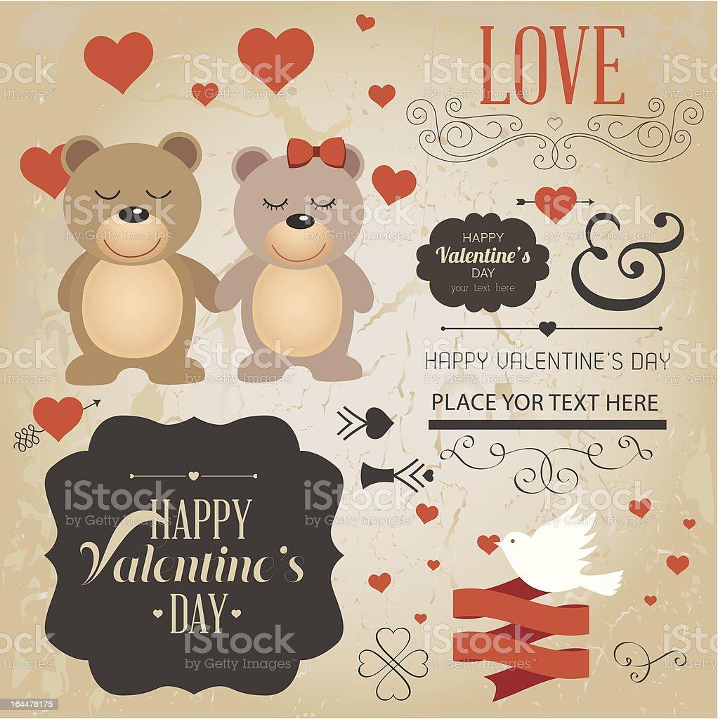 Vector Valentine Design Element royalty-free stock vector art