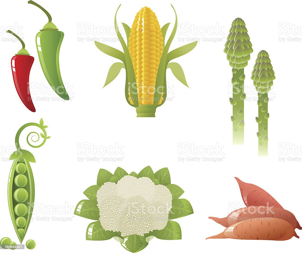 Vector Vegetables royalty-free stock vector art