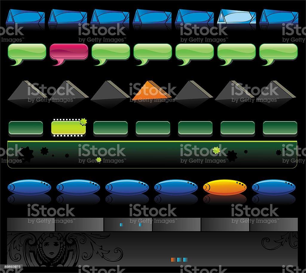 Вектор веб-глянцевые кнопки навигации Вектор вебглянцевые кнопки навигации — стоковая векторная графика и другие изображения на тему www Стоковая фотография