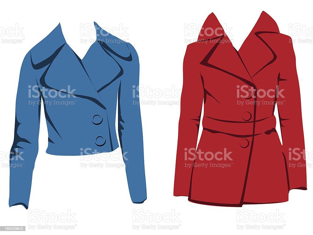 Vector women's jackets royalty-free stock vector art