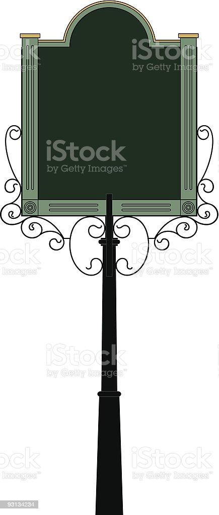 Vector Wrought Iron Sign 4 royalty-free vector wrought iron sign 4 stock vector art & more images of bar - drink establishment