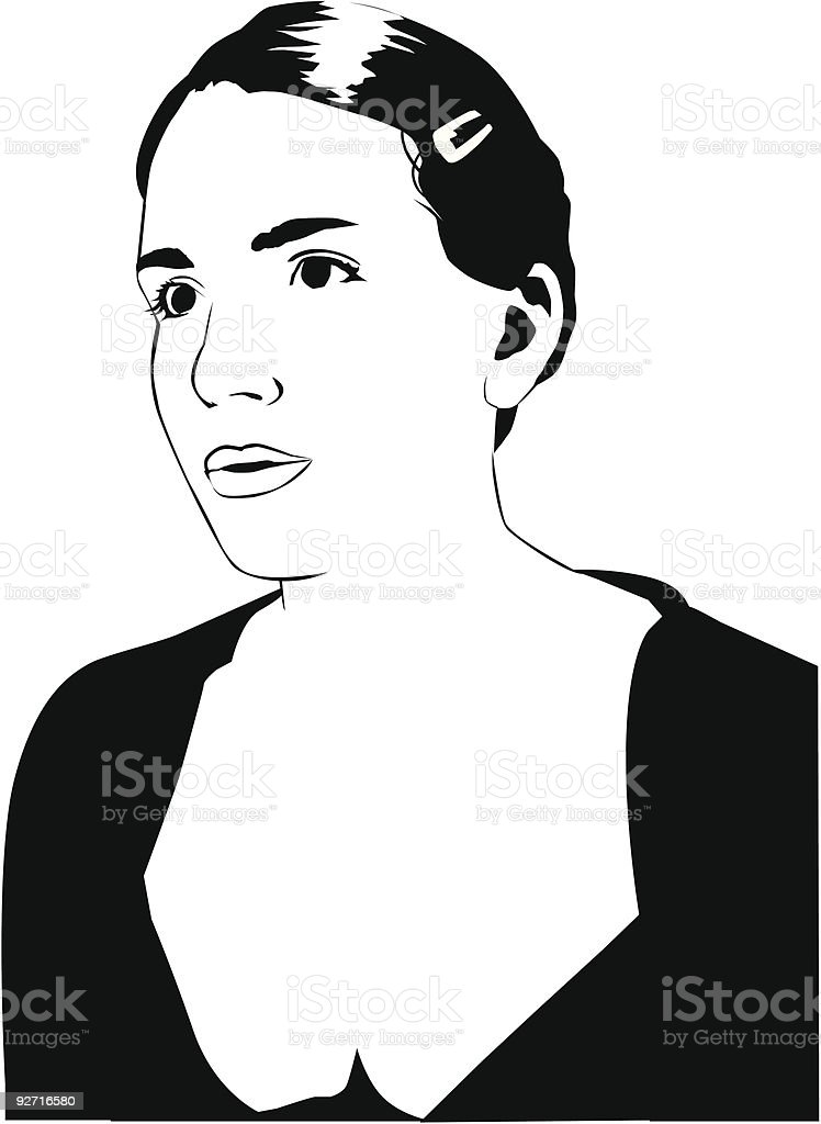 Vector Young Woman vector art illustration