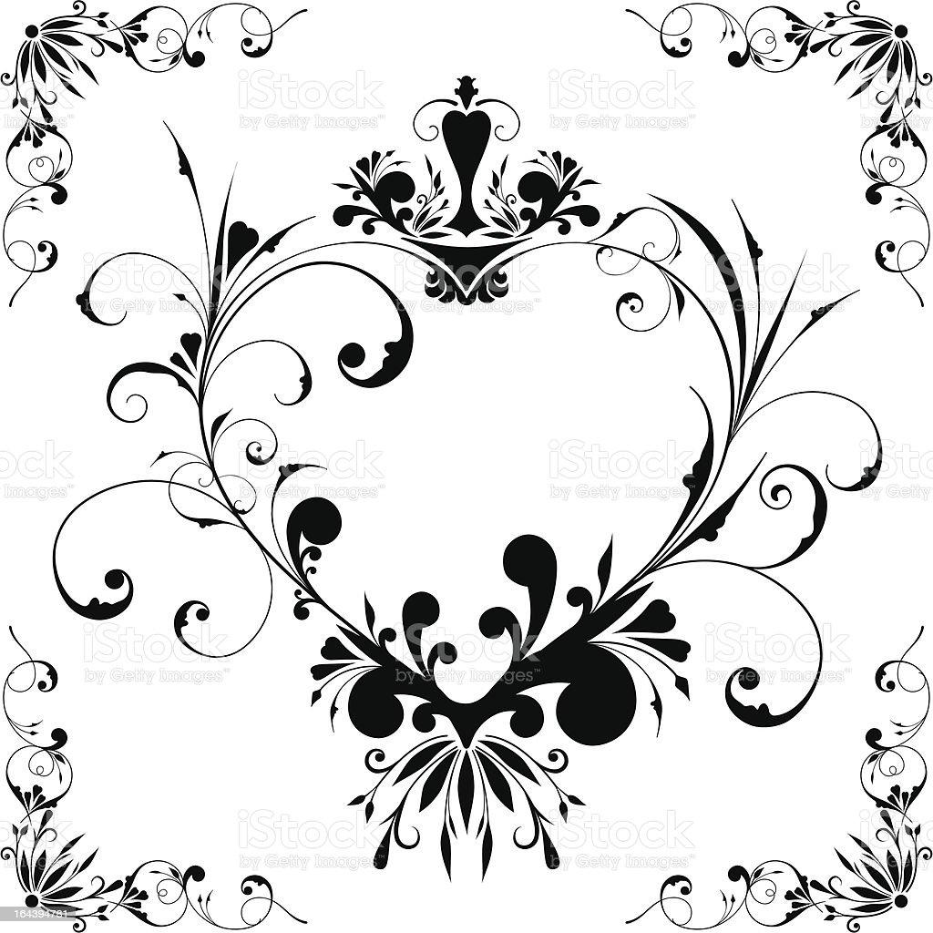 Vectorized heart-frame royalty-free stock vector art