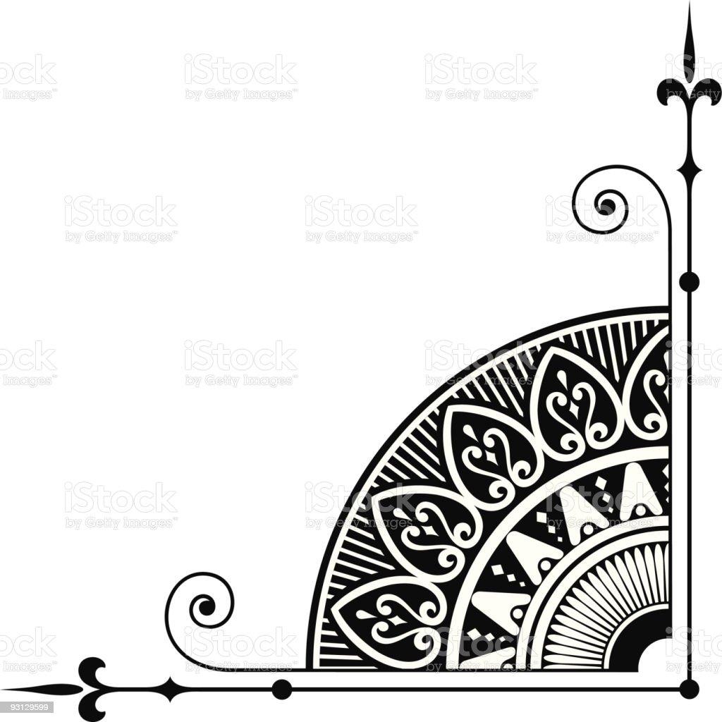 Vectorized Ornamental Corner vector art illustration