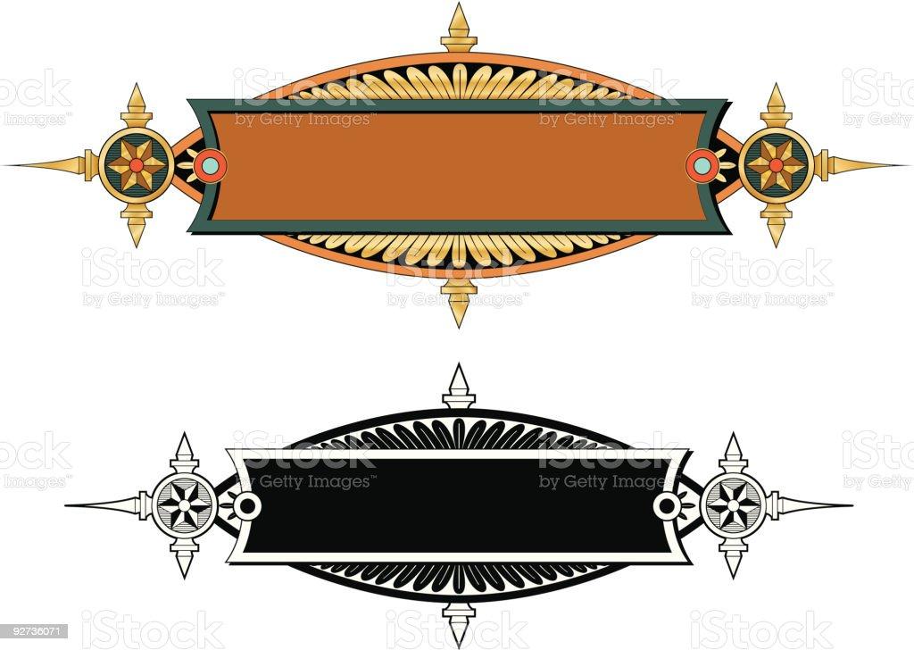 Vectorized Ornate Panel / Label Design royalty-free stock vector art