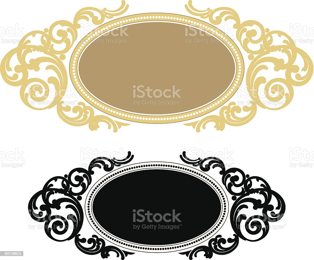 Vectorized Scroll - 101205 royalty-free vectorized scroll 101205 stock vector art & more images of art deco