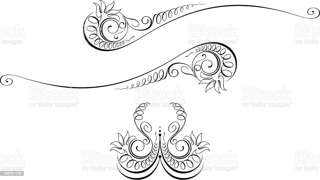 Vectorized Scroll Design Elements royalty-free stock vector art