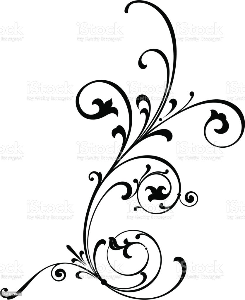 Vectorized Scroll Design royalty-free stock vector art