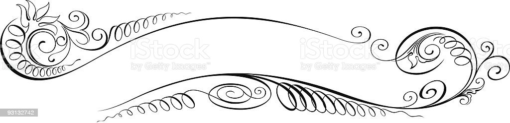 Vectorized Scroll Design1-91905 royalty-free stock vector art