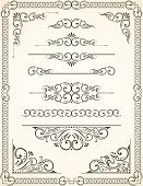 Vector Illustration of Certificate - Diploma and Decorative Dividers and Corners