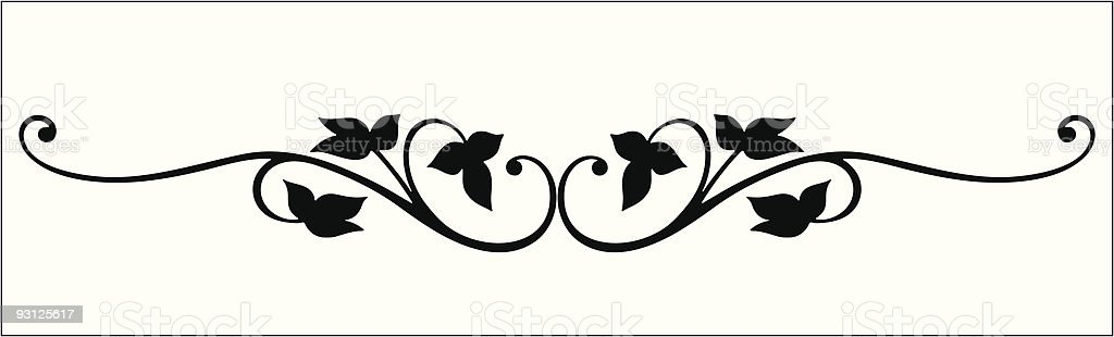 Vectorized Vine Scroll vector art illustration
