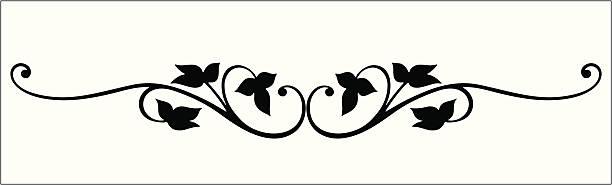 stockillustraties, clipart, cartoons en iconen met vectorized vine scroll - klimop