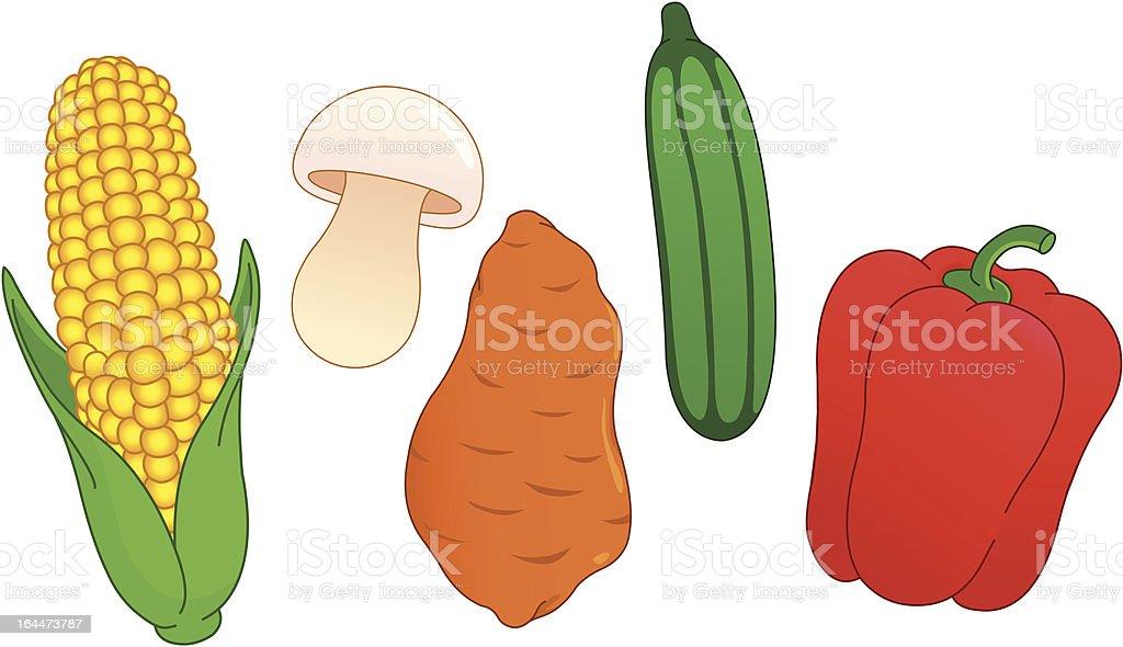 Vegetable set royalty-free stock vector art