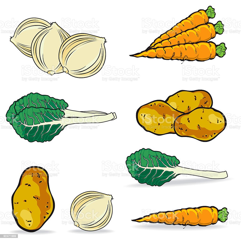 Vegetables Collection royalty-free stock vector art