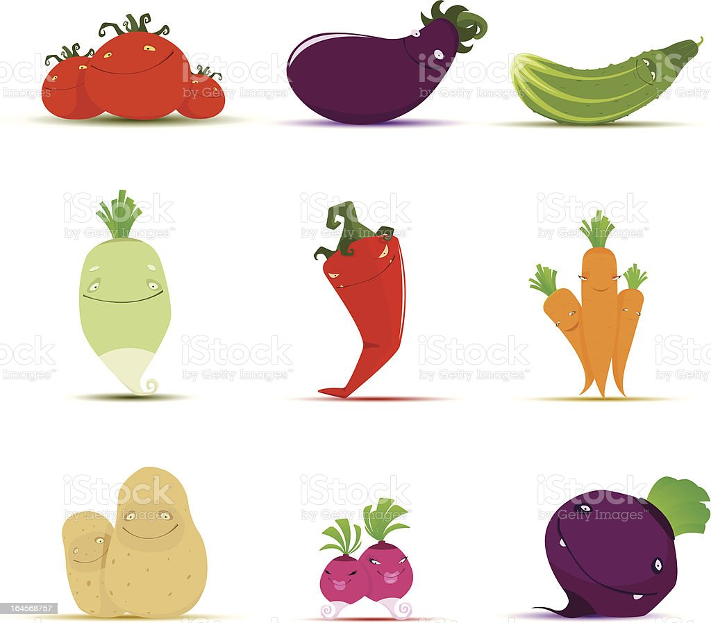 Vegetables royalty-free vegetables stock vector art & more images of anthropomorphic smiley face