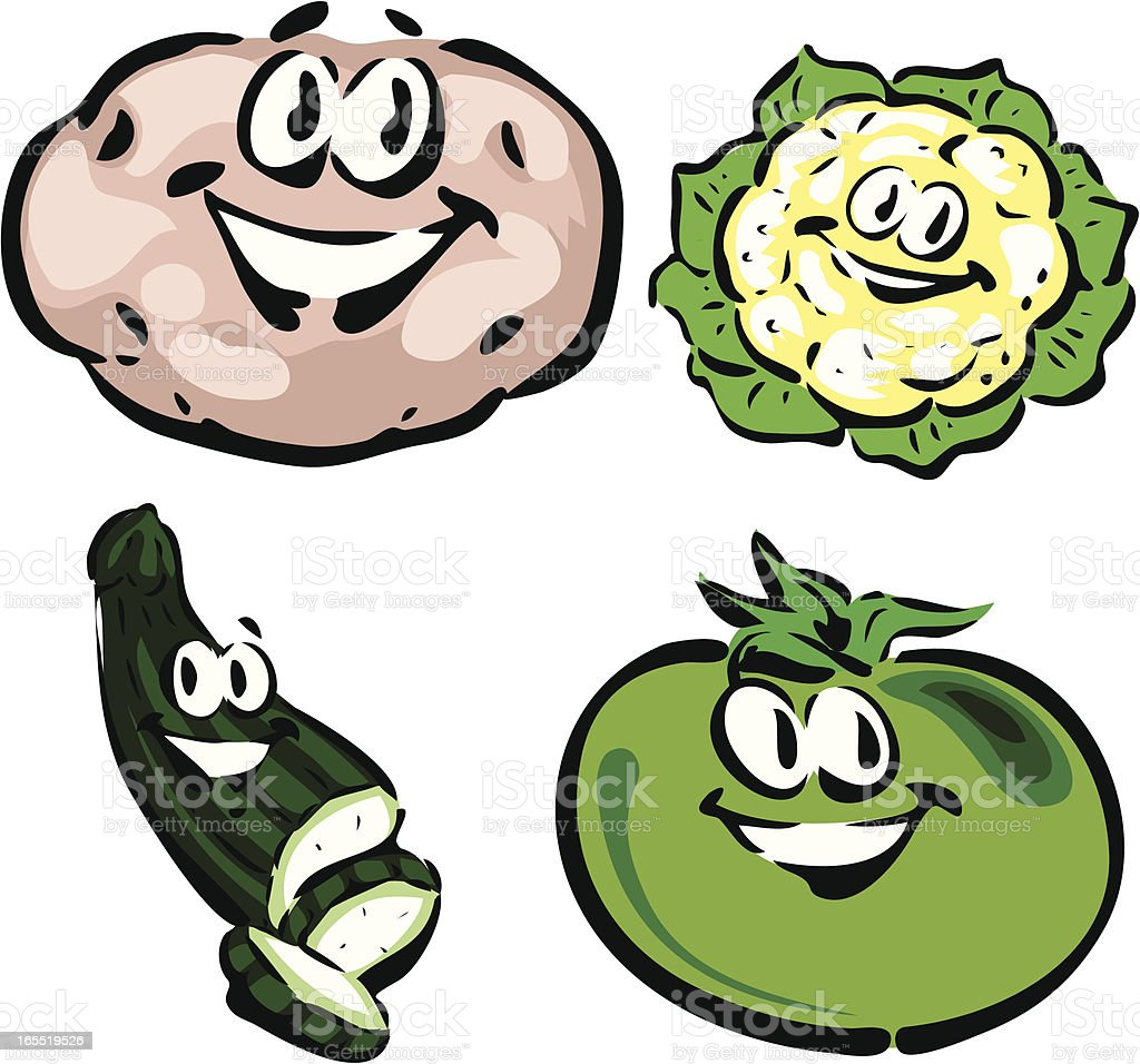 Vegetables royalty-free vegetables stock vector art & more images of cauliflower