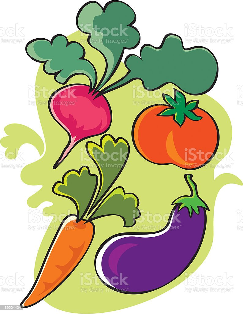 Warzyw warzyw - stockowe grafiki wektorowe i więcej obrazów bakłażan royalty-free