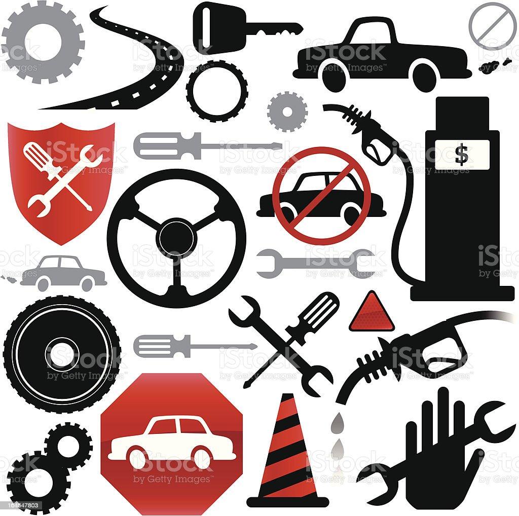 Vehicle Elements royalty-free stock vector art