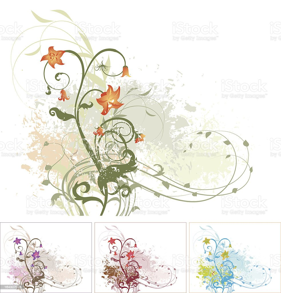 Vektor grunge floral background royalty-free stock vector art