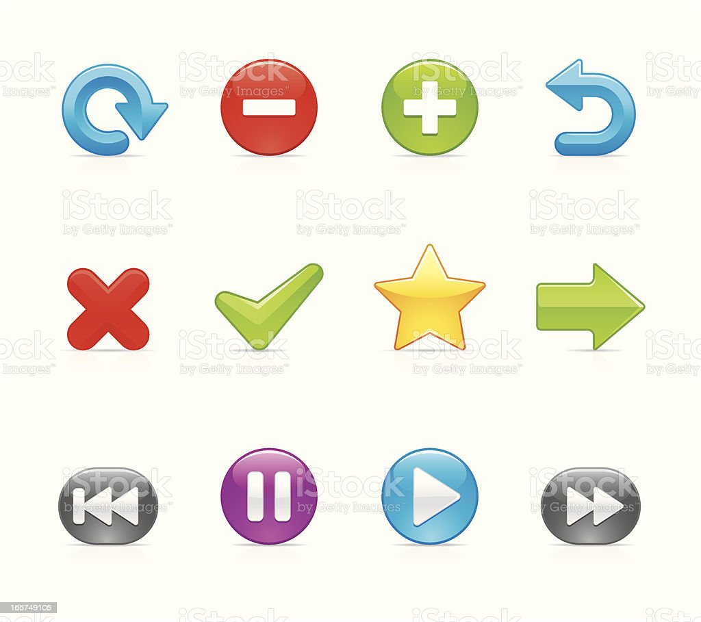 Velvet Icon - Control button royalty-free stock vector art
