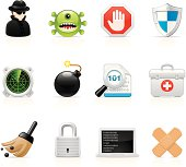 Set 20 - Software and network security vector icons.