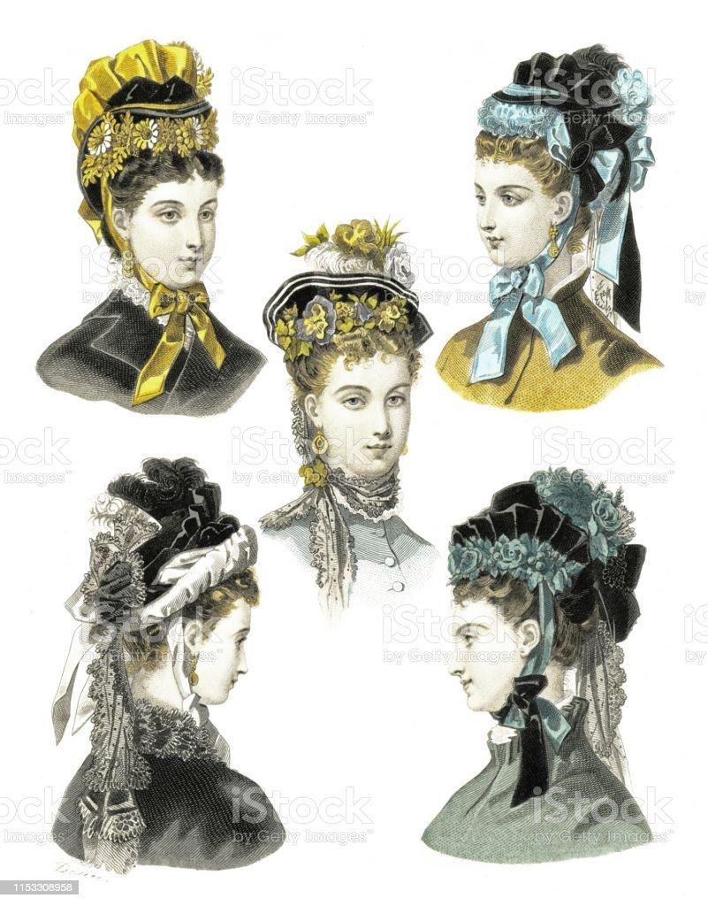4e49dd0b8c Vetores de Chapéus Do Inverno De Veludo Por Elegante Fashion 1874 e ...