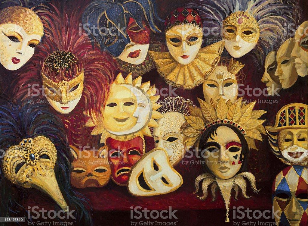 Venetian Masks royalty-free stock vector art