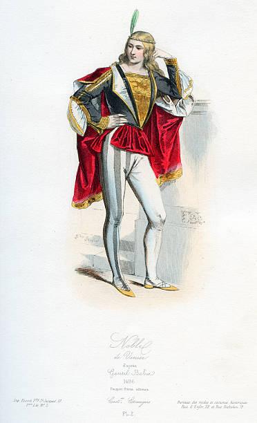 illustrazioni stock, clip art, cartoni animati e icone di tendenza di nobile veneziano - alta moda italy