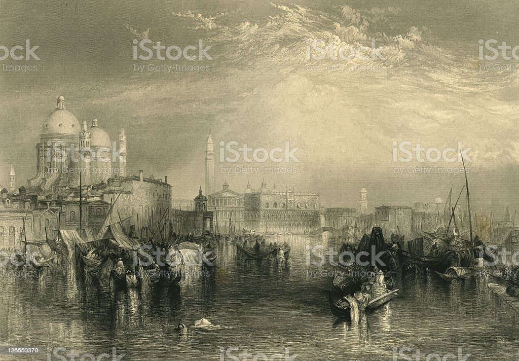 Venice (XXXL) royalty-free venice stock vector art & more images of black and white