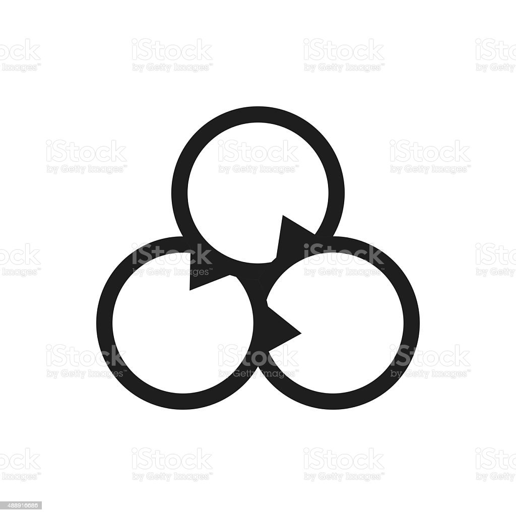 Venn diagram icon on a white background stock vector art more venn diagram icon on a white background royalty free venn diagram icon on a pooptronica Image collections