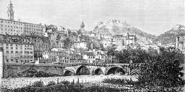 illustrations, cliparts, dessins animés et icônes de vintimille - pont gênes