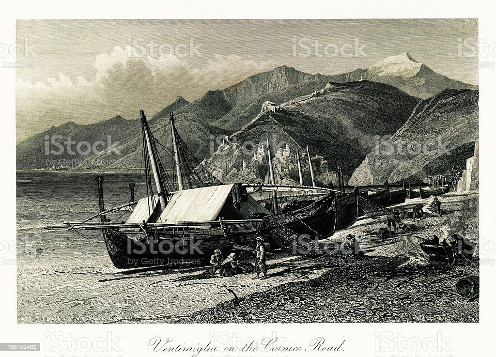 Ventimiglia, Italy royalty-free ventimiglia italy stock vector art & more images of 19th century