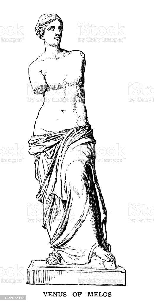 Venus of Melos vector art illustration